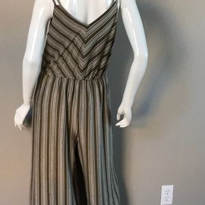 Other - NWT Army Green Stripe Jumpsuit